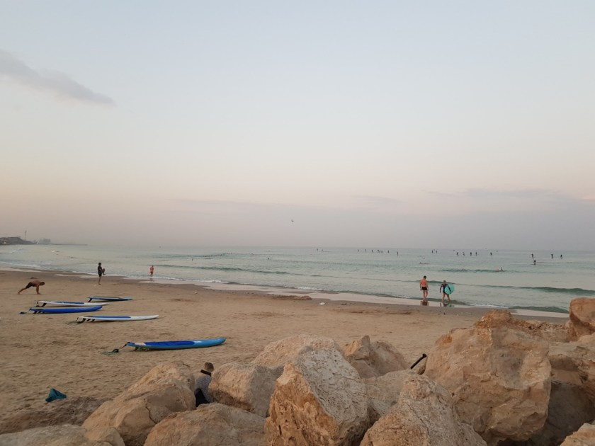 Early beach activities on the Israel National Trail