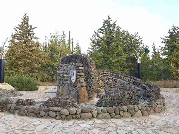 """The memorial to the """"Barak"""" Armored Brigade in Latrun"""