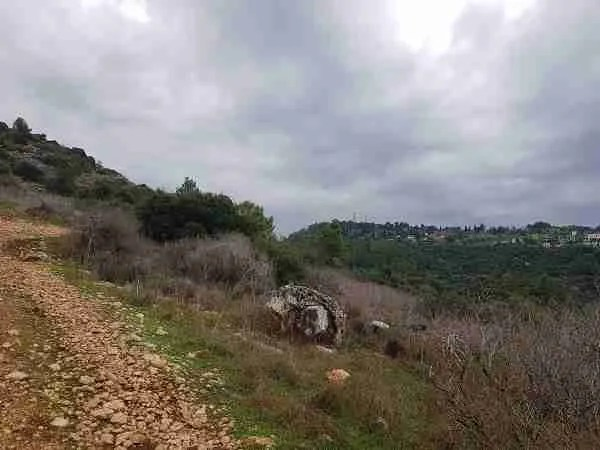 Beit Meir in the distance on the Israel National Trail