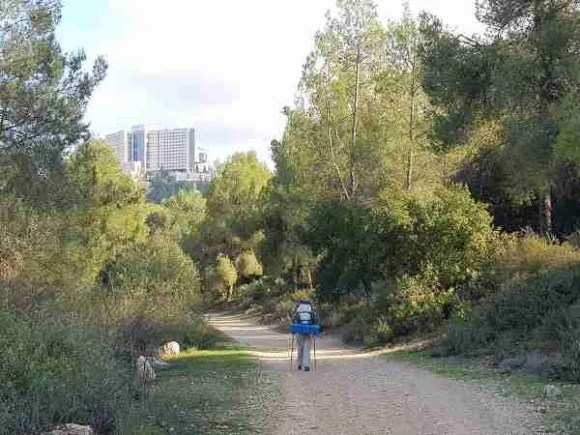 Walking towards Ein Karem on the Israel National Trail