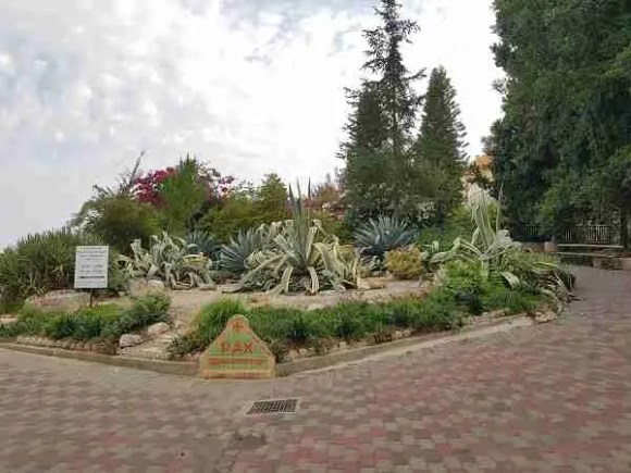 The Trappist Monastery - the garden at the entrance