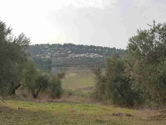 Neve Shalom in the distance on the Israel National Trail