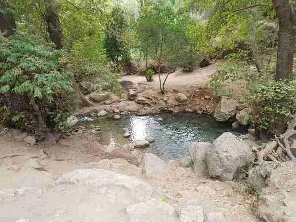 The Sechvi Pools in Nahal Amud on the Sea to Sea Trail