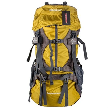 WASING 55L Internal frame Backpack Hiking Backpacking Review