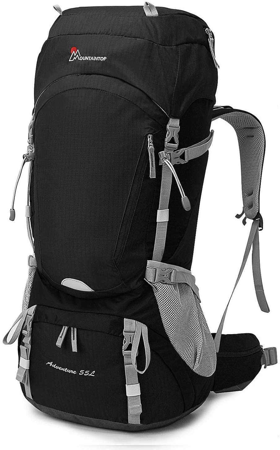 Mountaintop 65L Internal Frame Backpack with Rain Cover