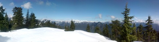 Panorama of Top of Mount Fromme