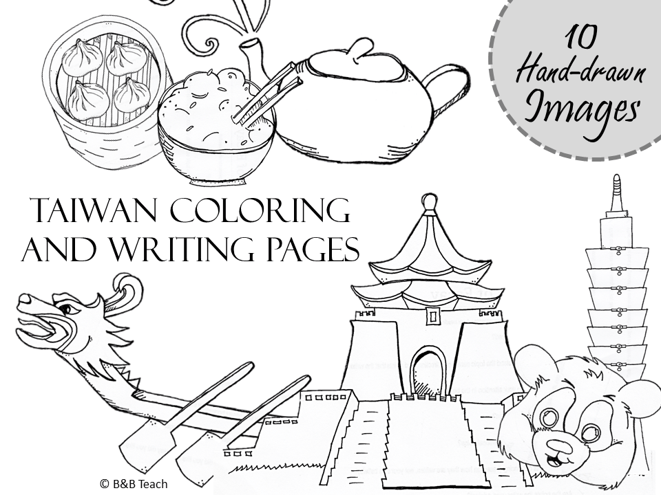 Taiwan Coloring & Writing Pages