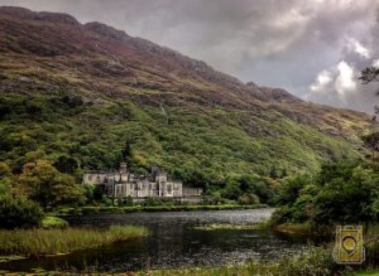 Kylemore Abbey, the Benedictine monastery founded on the grounds of Kylemore Castle, in Connemara, County Galway, Ireland.