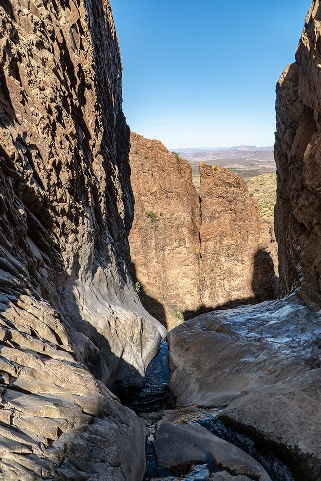 Things to do in Big Bend: Hike the Window Trail in the Chisos Basin. It offers spectacular views of the valley below through a narrow opening called the window.