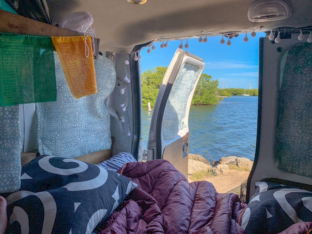 Guide to Key West: if you camp at Boyd's, be sure to request a waterfront site so you can wake up to the water like this.