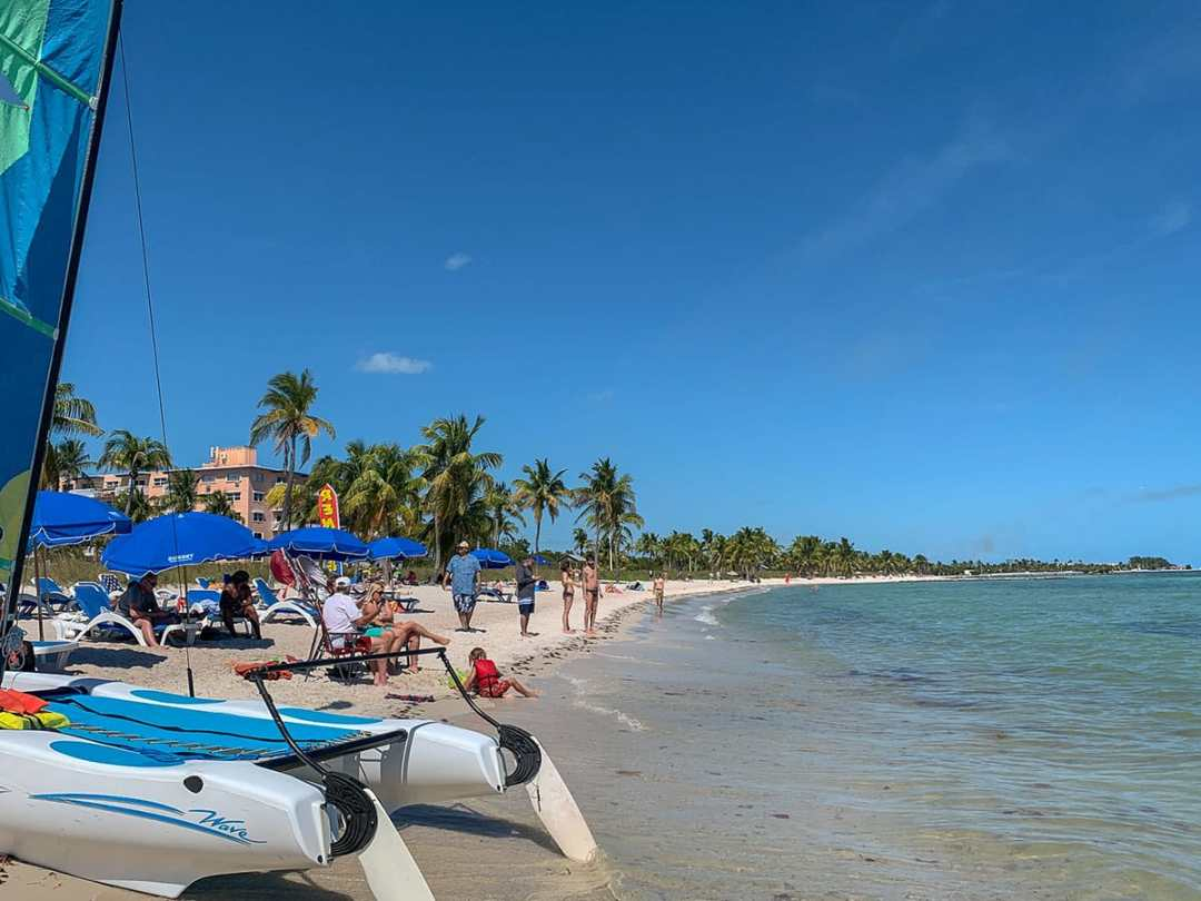 Guide to Key West: spend a day at Smathers Beach.