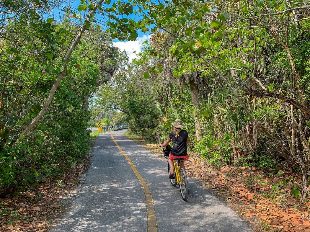 Explore Sanibel Island on bike! Rent a bike and cruise the bike paths all over the island.