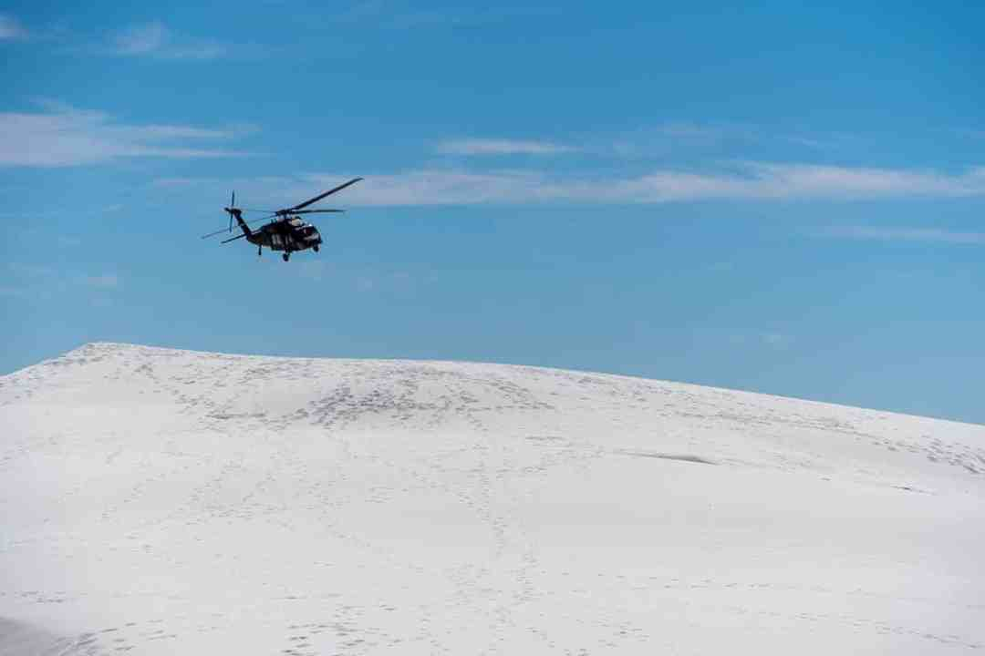 Visiting White Sands: Helicopter Overhead