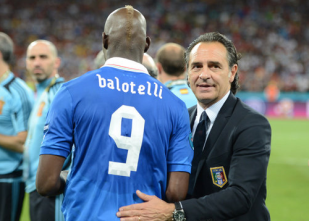 Prandelli Balotelli Italy