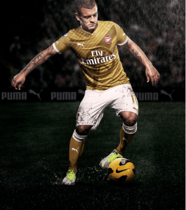 Pic: Arsenal's new gold Puma away kit