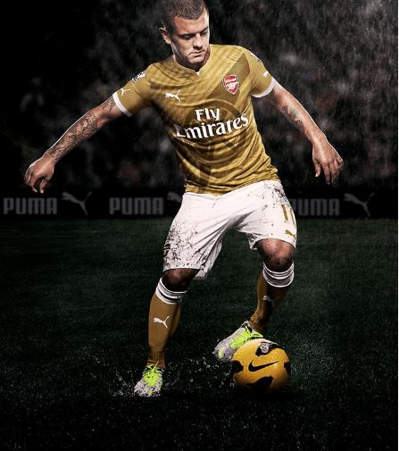 e9e02bf42 Pic  Arsenal s new gold Puma away kit - Back Page Football