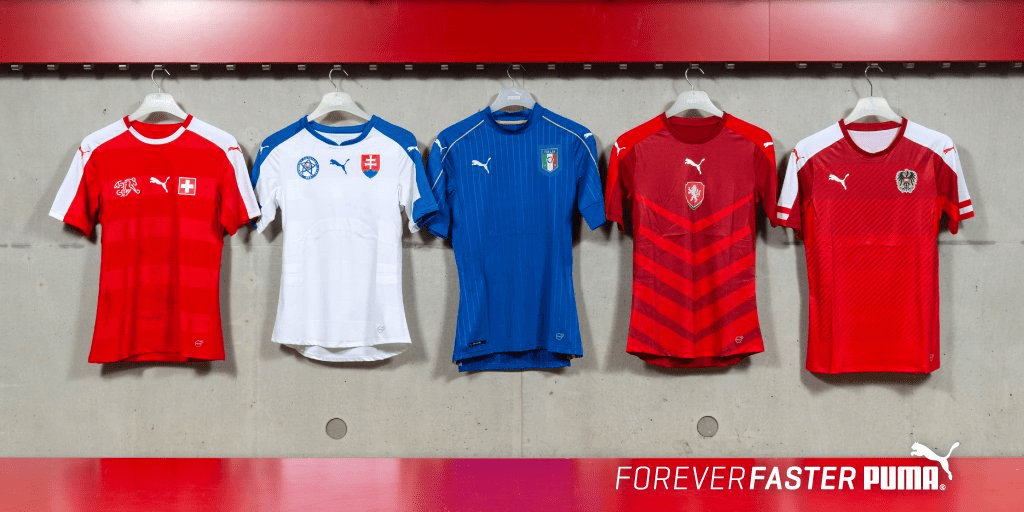 Puma release five new international shirts for Euro 2016 - Back Page ... 57c6d52ca