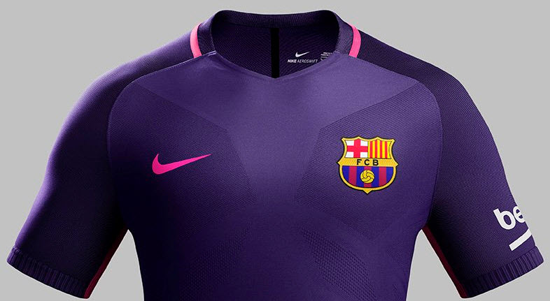 cd6d0a67cd3 Pic  Barcelona reveal new purple and pink away kit by Nike