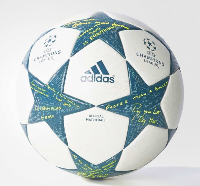 Champions League ball 2016 white