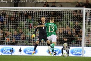 Gallery: Ireland and Denmark share the spoils at rain soaked Aviva Stadium