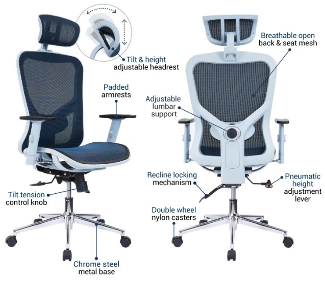 Features of high back chair
