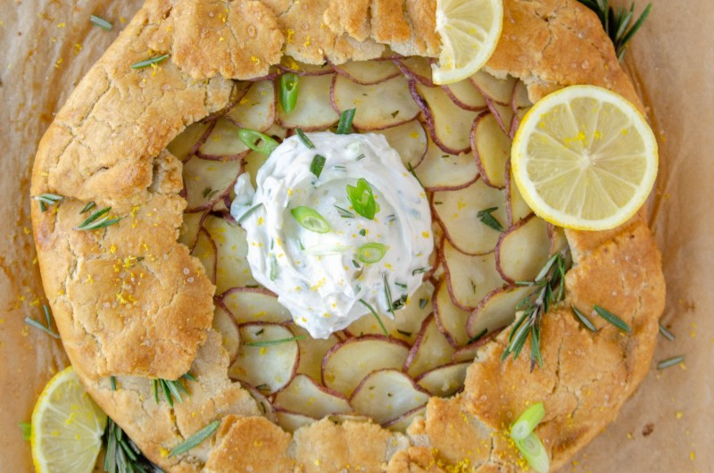 rosemary potato galette
