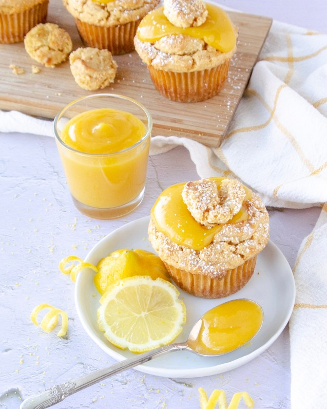 paleo lemon curd muffin