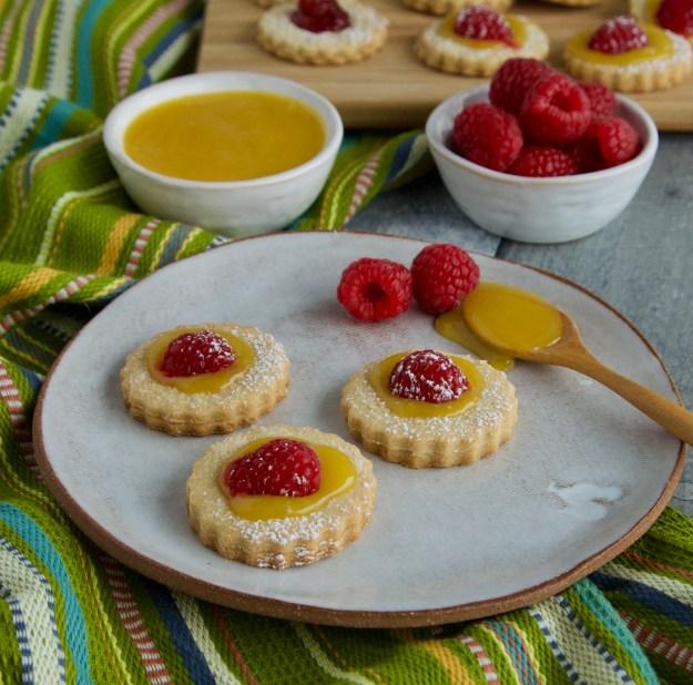 lemon curd paleo linzer cookies