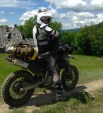 Vova on his dirtbike