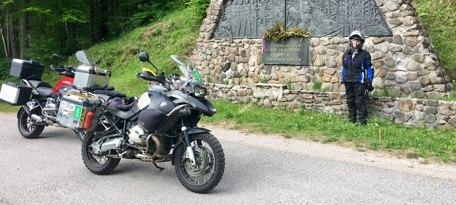 Wold War II Partisan memorial, Backroad Motorcycle Adventure