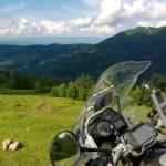 Pass over the mountains to Rakhiv, Ukraine