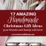 17 Amazing Handmade Christmas Gift Ideas Your Friends And