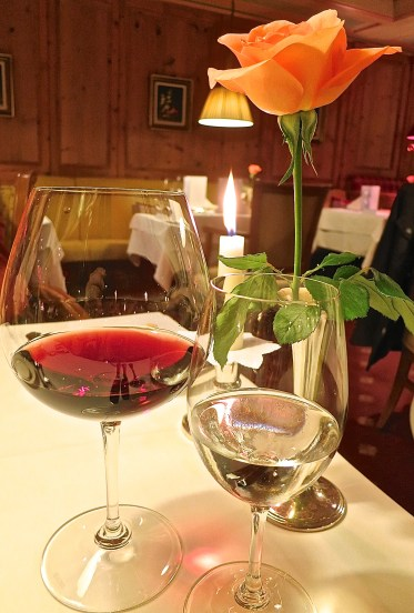 Piano Music, Candlelight, Roses, Wine And Good Food Make A Perfect Evening
