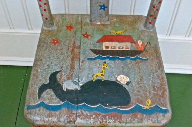 Details On Painted Children's Chair