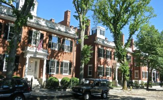 "Joseph Starbuck Houses Affectionately Known As ""The Three Bricks"""