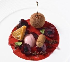 Wonderful Cherry Dessert At The Post Hotel