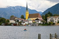 The Town Of Rottach-Egern On Lake Tegernsee, Germany