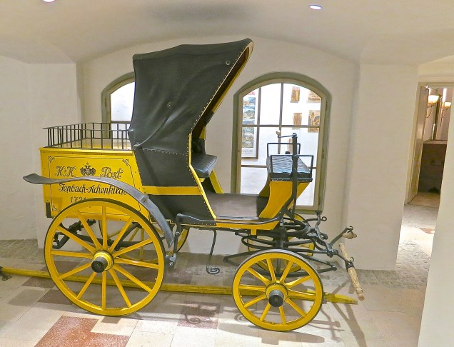 Old Post Carriage In One Of The Passageways