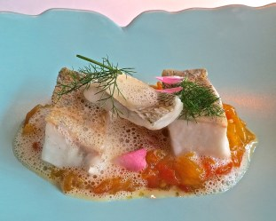 Zander (Pike-Perch) With Tomato And Pumpkin With Verbena Buttersauce