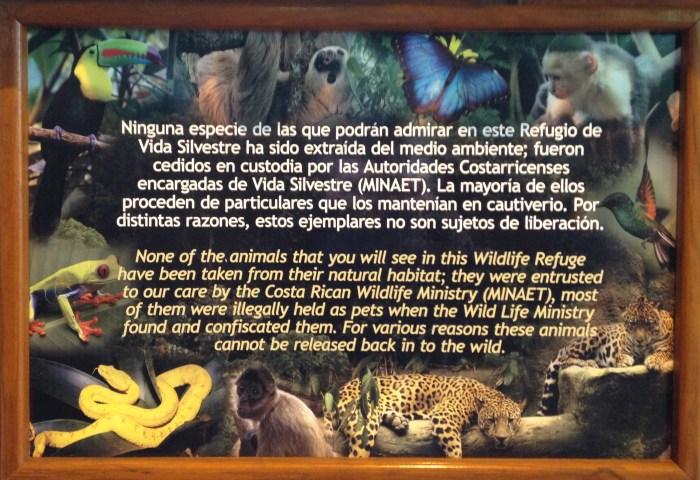 La Paz Waterfall Gardens Animal Policy