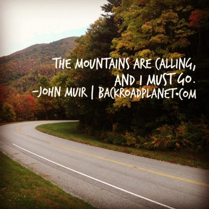 John Muir Mountains Calling Quote Meme