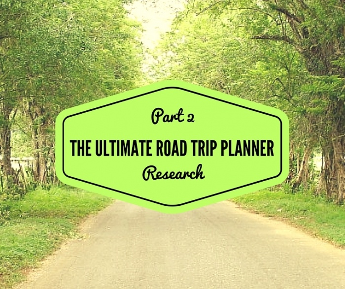 Copy of PART 1  PRE PLANNING 3 1 - Road Trip Planning Resources