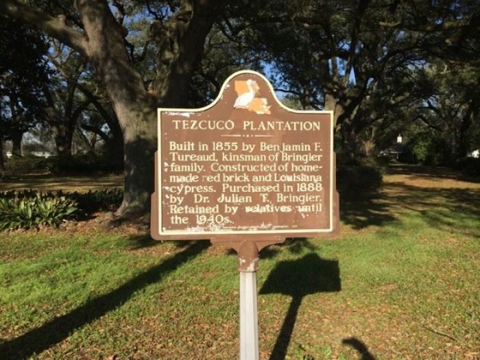 Tezcuco Plantation Sign