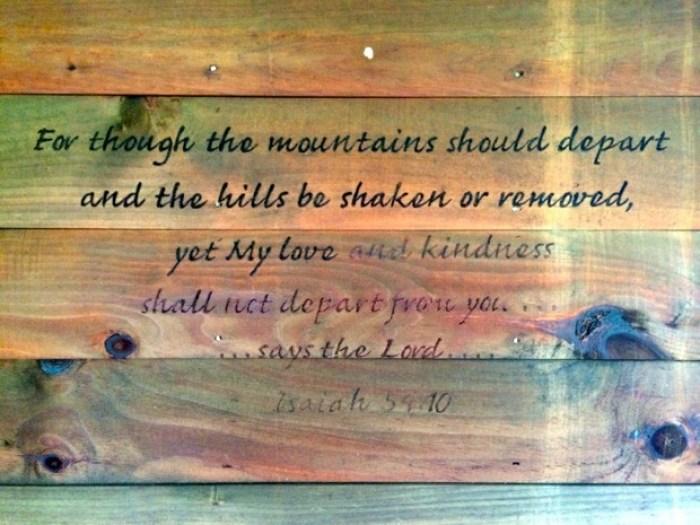 Pinebox Log Cabin Scripture