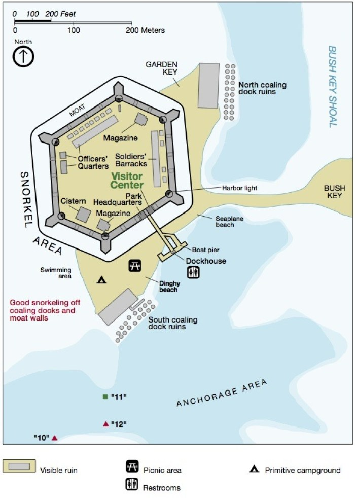 Garden Key Fort Jefferson Map