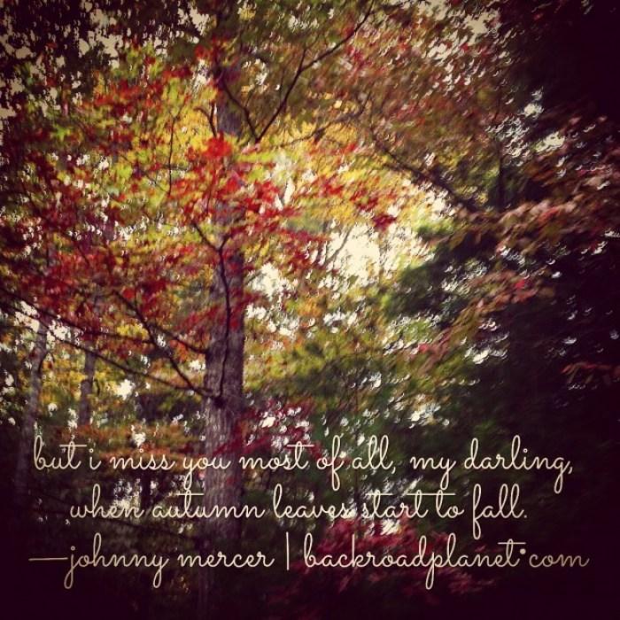 Autumn Leaves Lyrics Meme Johnny Mercer