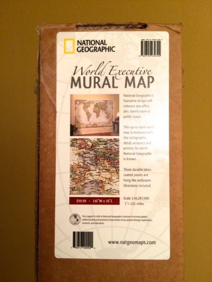 National Geographic World Map Murals.How To Hang A National Geographic World Map Mural