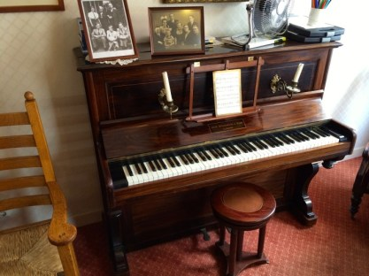 The parlor piano in the Corrie ten Boom House Museum in Haarlem, Netherlands.