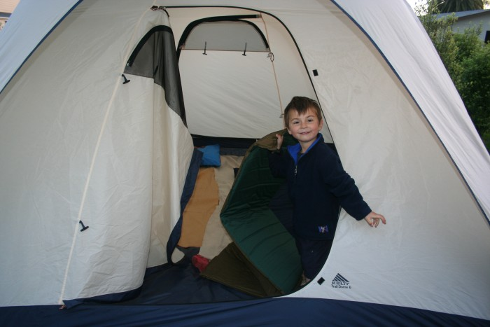 Camping in Blenheim, South Island