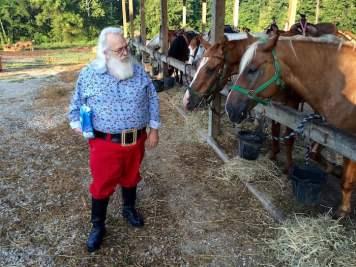 Santa and Horses Indiana